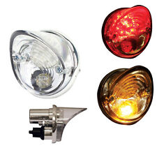 MOTORCYCLE REAR TAIL LIGHT BRAKE STOP LIGHT & INDICATOR CUSTOM LED SINGLE UNIT
