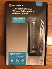 Motorola SBG6580 SURFboard 300 Mbps 4 Port Gigabit Wireless Cable Modem - Black