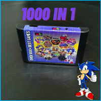 Cartridge 1000 in 1 for Sega Genesis & Mega Drive Game 16-Bit Multi Cart with 8G