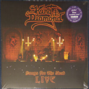 King Diamond - Songs For The Dead Live on Pink & Blue Marble vinyl.