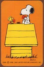 Playing Cards Single Card Old Vintage SNOOPY WOODSTOCK Dog Kennel Peanuts Comic