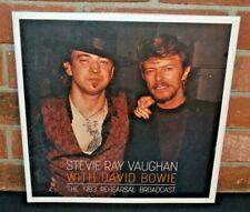 STEVIE RAY VAUGHAN & DAVID BOWIE - Rehearsal Live 1983, Ltd 2LP CLEAR VINYL New!