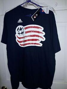 New England Revolution Major League Soccer Adidas Revs T-shirt MLS NEW Navy L