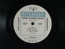 "CRIPPLE CLARENCE LOFTON - 8 PIANO SOLOS 10"" USA RIVERSIDE WHITE LABEL RLP 1037"