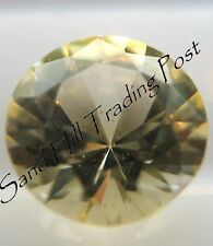 Natural 5mm Loose Round Cut .53ct Soft Yellow Sapphire