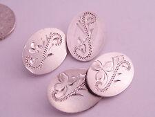 Antique Victorian Art Nouveau era Sterling Silver Engraved Cufflinks Hallmarked