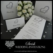 Heart of Diamonds Modern Wedding or engagement Invitations - Samples ONLY $1