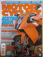 Motorcyclist Magazine June 2008 Achtung baby! KTM RC8 Sumo Supermotos BMW Guzzi