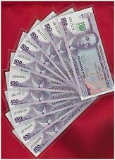 2011 PHILIPPINES 100 peso DE LA SALLE Solid 10 p 111111 - 999999 1mil inc 888888