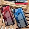 For Xiaomi Redmi Note 9S 8T 8 7 5 Pro 8A Tempered Gradient Glass+TPU Case Cover