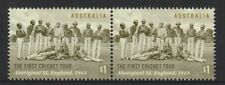 Australia 2018 : The First Cricket Tour 150 Years, $1.00 Joined pair. MNH