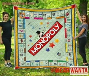 Monopoly Board Game Quilt Blanket (UK Version) Cute Quilt Gift