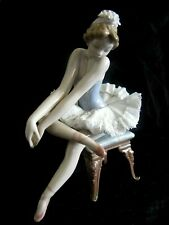 CLASSIC AUTHENTIC LLADRO BALLERINA ON CHAIR PORCELAIN FIGURINE D - 22 S