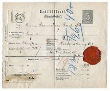Hungary Transylvania 1861 5 Krajczár Stationery Delivery Note,Waybill,revenue st