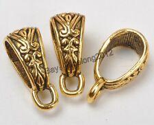 30pcs Tibetan Silver Spacer Bail Beads Pendant Jewelry Making 18X7mm C3234