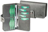 Woodland® Brieftasche / Geldbörse aus naturbelassenem Büffelleder in Anthrazit