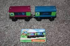 Thomas the Train & Friends Wooden Railway Sodor Aquarium Cars Card Set RARE toy
