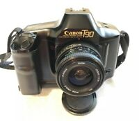 Canon T90 35mm SLR Film Camera Plus 28 Mm F2.8 Vivitar Lens