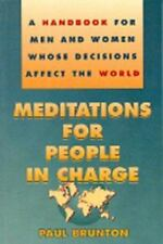 Meditations for People in Charge: A Handbook for Men and Women Whose-ExLibrary