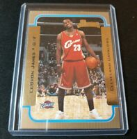 2003-04 Bowman Basketball Gold Rookie Card Lebron James RC Cavaliers Lakers SP