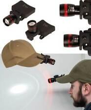 Linterna Led Cree Zoom para gorra, molle, camping, adaptable al equipo táctico