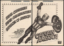 CAPTAIN AMERICA / HULK__Original 1980 Cannes Trade AD promo / poster__REB BROWN