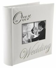 Our Wedding Album Photo Holds 160 White Pictures Storage Memories Gift New free