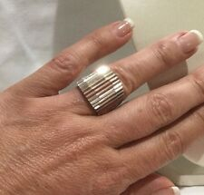 Chunky Vintage Taxco TM-95 Sterling Silver 925 Ring Thick 15.82 Grams Sz 8.5