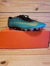 Nike Mercurial Vapor 12 Academy CR7 AJ3721-390 FG  MG Teal Soccer Cleats Size 8
