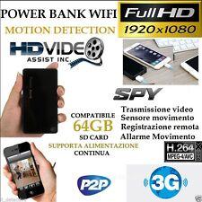 Spy Camera Spia Wi-fi Wifi telecamerra microcamera nascosta p2p