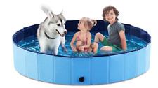 Foldable Dog Pet Bath Pool Collapsible Dog Pet Pool Bathing Tub Kiddie Pool for