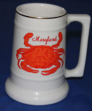 Vintage Collectible MARYLAND CRAB MUG  made in the USA Recipe on back