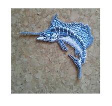 "Sailfish - Fishing - Deep Sea Fishing - Embroidered Iron On Patch -  2 1/4""W"