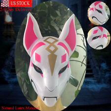 Unisex Fox Drift Halloween Cosplay Costume Props Latex Full Face Mask Helmet USA
