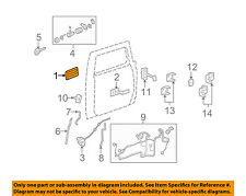Hummer GM OEM 06-09 H2-Outside Exterior Door Handle Right 25845867
