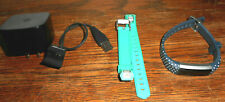 Fitbit Alta Stainless Steel Tracker Blue & Green Band, Large