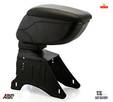 Universal Black Eco Leather Sliding Armrest Arm Rest Center Console New Box