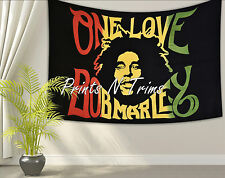 BOB MARLEY One Love Gypsy Dorm Tapestry Twin Wall Hanging Hippie Bedspread Throw