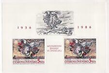 Czechoslovakia Sc 2625 NH Minisheet of 1986 - Theater - Art