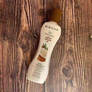 Biosilk Silk Therapy Coconut Oil 3-in-1 Shampoo,Conditioner,BodyWash 5.64 Fl Oz