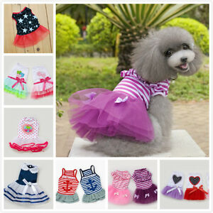 Dog Cat Lace Tutu Party Dress Apparel Skirt Love Mom Princess Sailor Jumpsuit