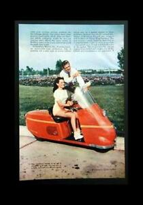 Salsbury Motor Scooter 1947 color pictorial