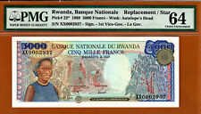 Rwanda 5000 Francs 1988 Replacement  (XX) Pick-22 Ch UNC PMG 64