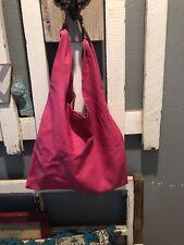 Nardelli Leather Shoulder Bag Boho Hobo Slouchy Large Soft  PINK Handbag Italy