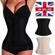 Women Ladies Slimming Waist Trainer Corset Cincher Slim Fat Shaper Nude Black UK