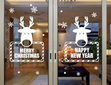 Large Christmas Reindeer Window / Wall Stickers / Christmas Decorations / Decal