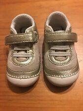**Stride Rite SM Jazzy Leather Sneaker - Toddler's Size 4.5 - Gold
