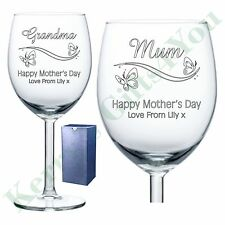 Engraved Wine Glass Mothers Day Gifts First 1st Mummy Mum Grandma Gran Nanna Nan