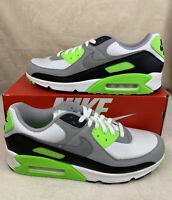 Nike Air Max 90 Lime White Particle Grey CW5458 100 Men's Size 13
