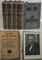 Jahnke Fritz Reuter Sämmtliche Werke in 15 Büchern um 1900 Klassiker sf